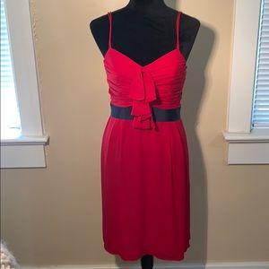 TORY BURCH red 100% silk red dress!!
